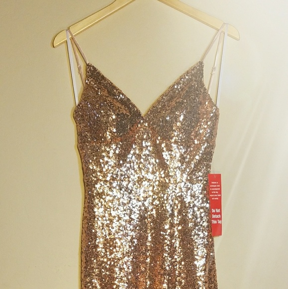 B.Smart Dresses | Rose Gold Sequin Gown | Poshmark